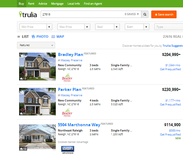 Search Trulia Without Registering