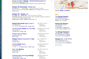 Google Local 7 Pack Mapped Results for Realtors