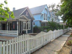Single-family homes on a neighborhood street