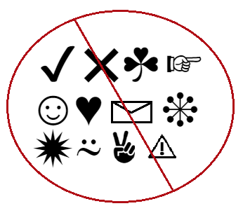 Symbols to avoid in email subject lines