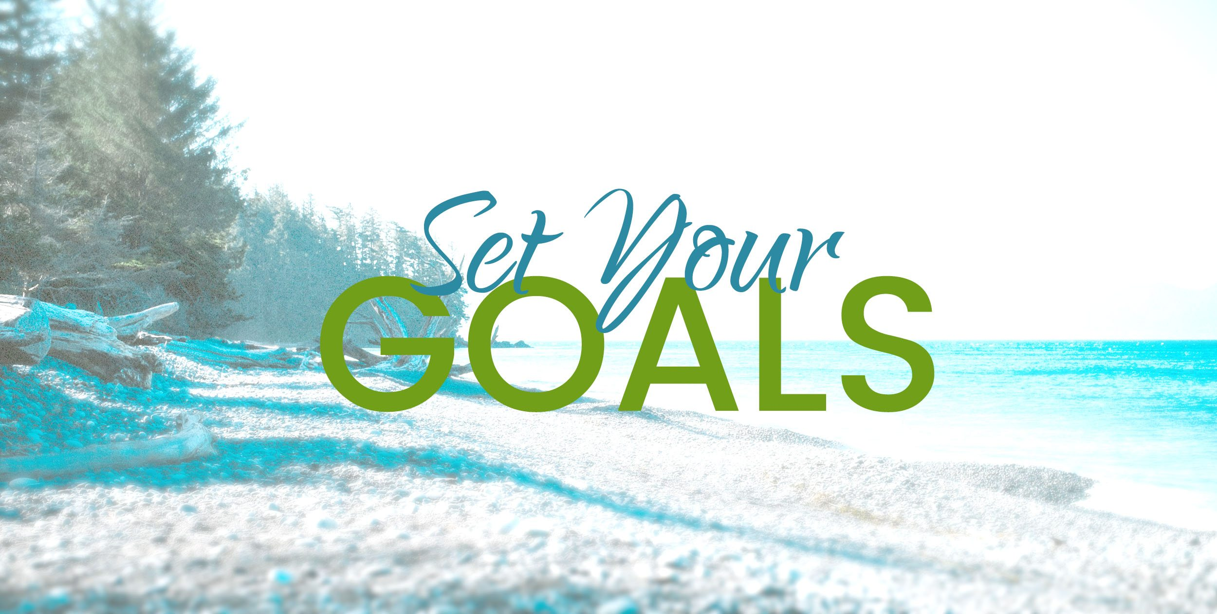 """set your goals"" image"