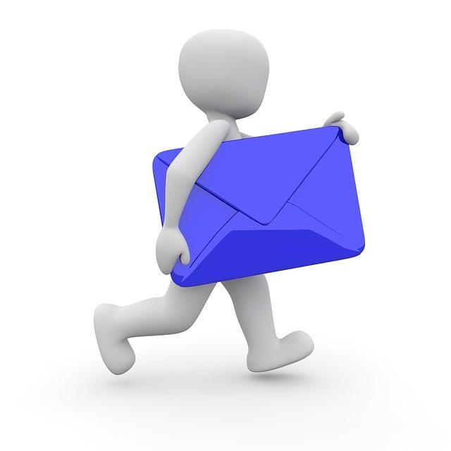 Man sending email