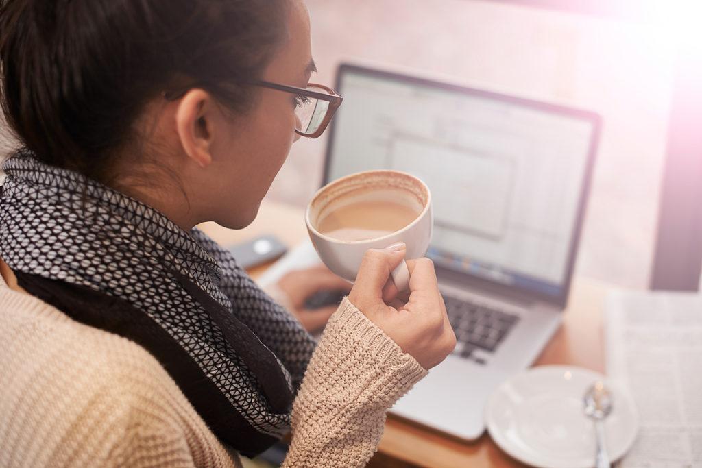 a client using a website