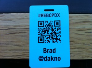 QR Code Badge from REBCPDX