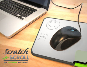 Scratch-n-Scroll mouse pad